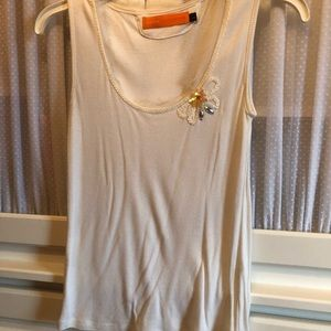 Cynthia Steffe sequin trim and flower tank top